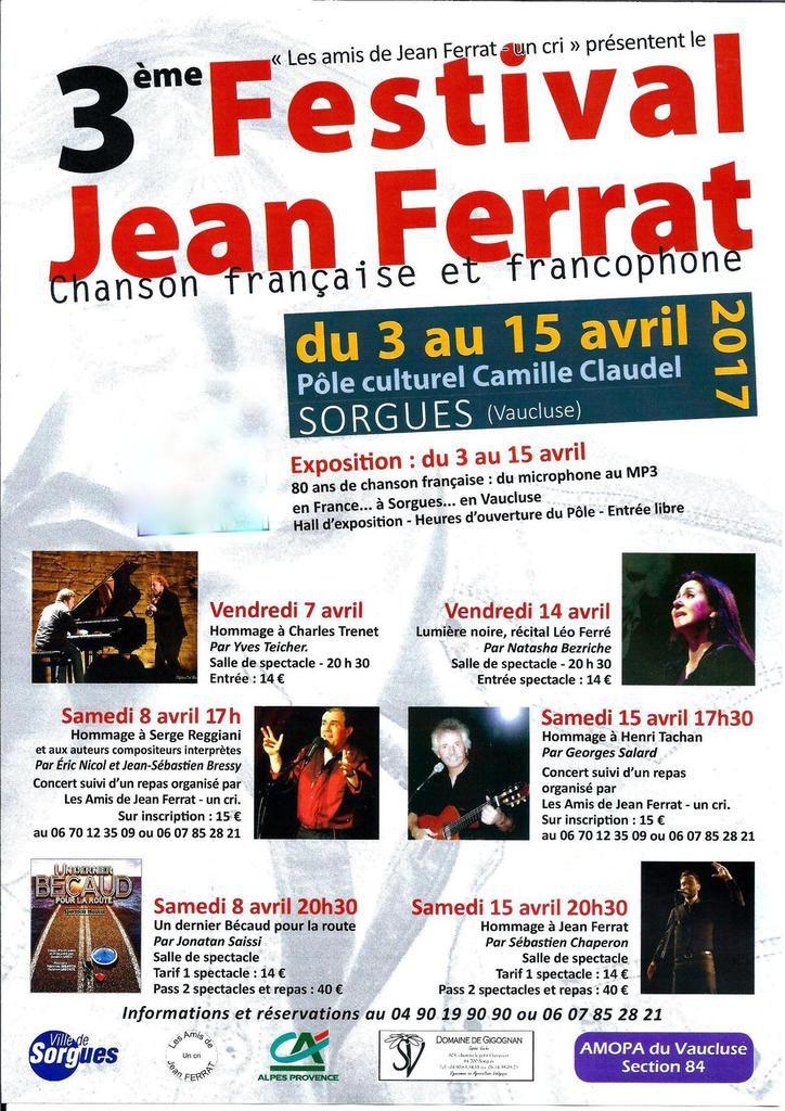 Le 3 ieme Festival de la Chanson Française et Francophone