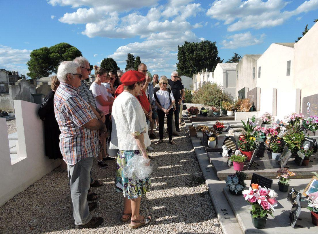 Hommage sur la tombe de Jean-Pierre Volle le 10 Août 2017