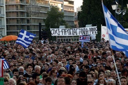 Intervention d'Alexis Tsipras place Syndagma vendredi 3 juillet 2015
