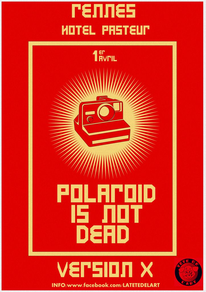 Polaroïd is not dead#5 - Safari Pola et Exposition - Samedi 1er avril  à 14h - Vernissage le 1er Avril à 19h