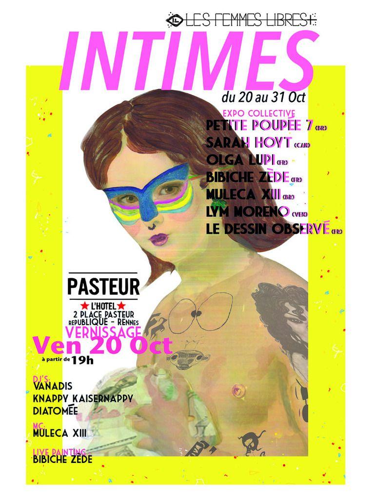 Exposition Collective INTIMES // Les Femmes Libres // du 20 au 31 Octobre