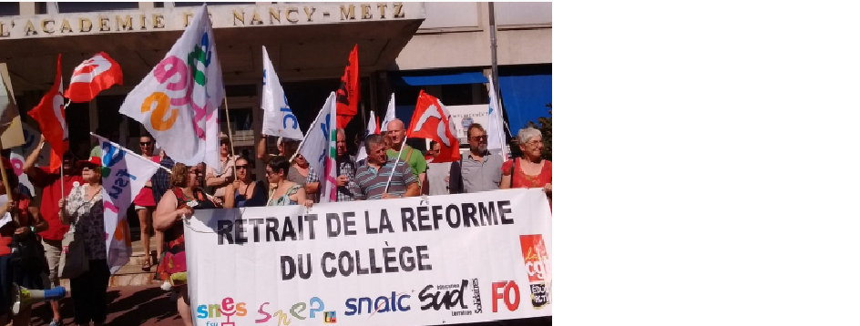 Manifestation du 8 septembre au rectorat