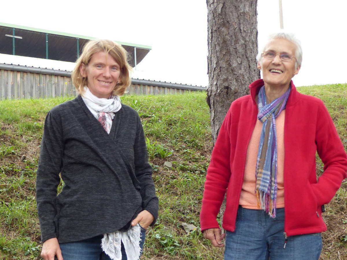 Magalie et Andrée du conseil de Solidarité Paysans Lorraine