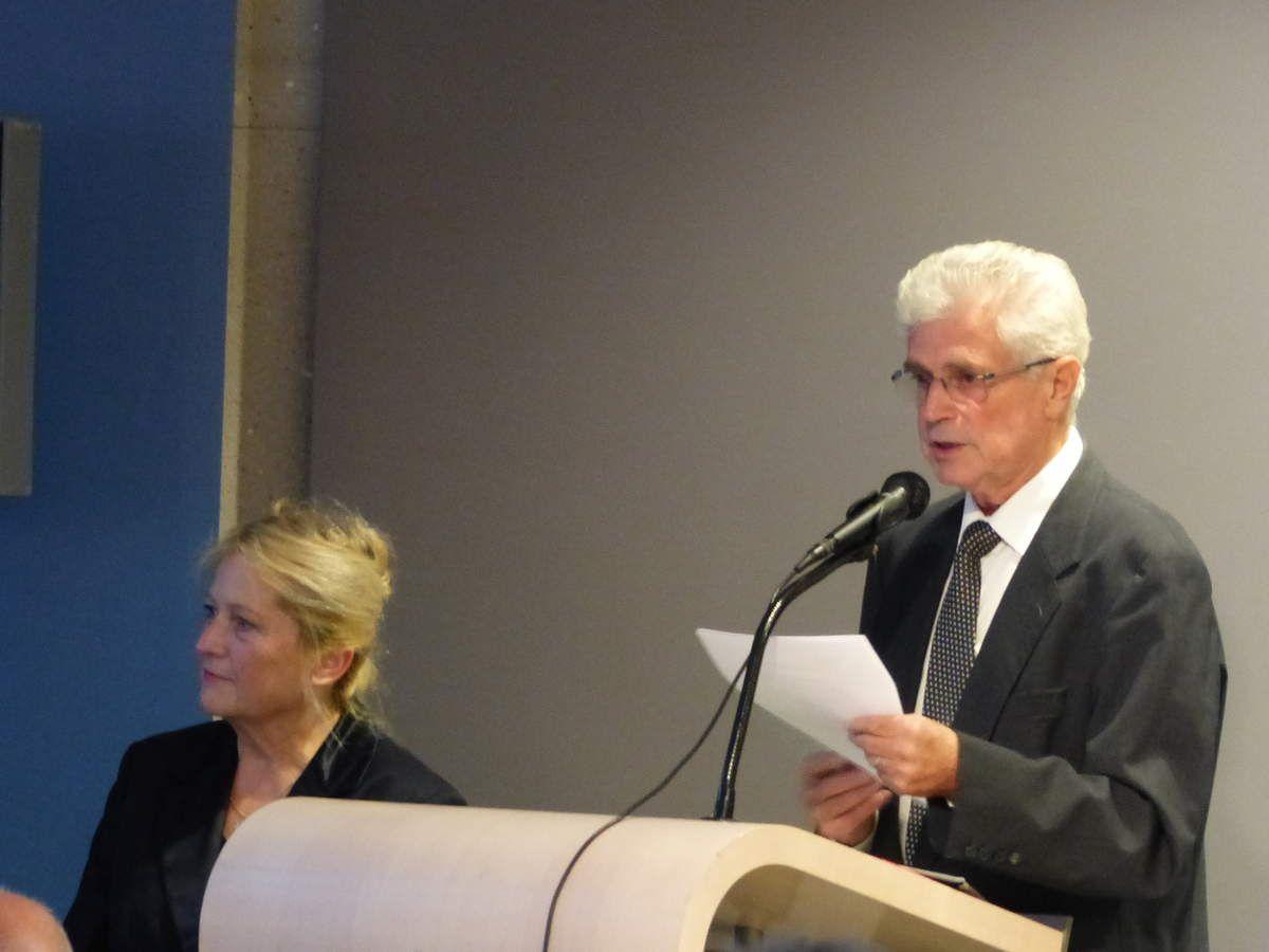 Marie-Hélène Alévêque et Jackie Frémont Délégué Départemental de la Fondation du Patrimoine aux Trophées du 23 septembre