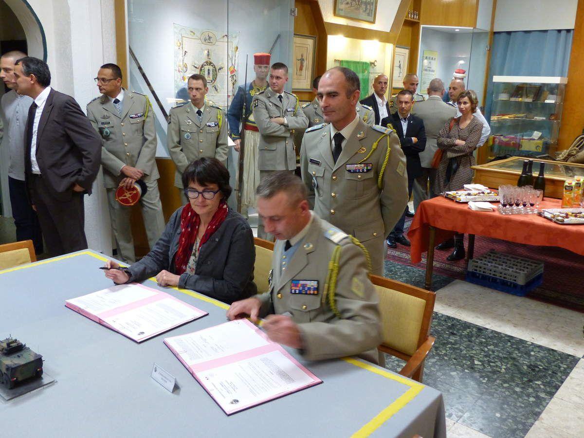 8 accords ont été signés entre le chef de corps en second et les différents principaux de collège