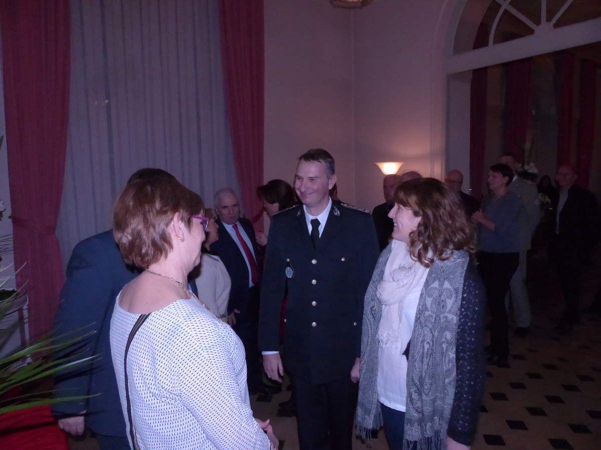 Le directeur départemental de la sécurité publique Patrick Roussel et son épouse
