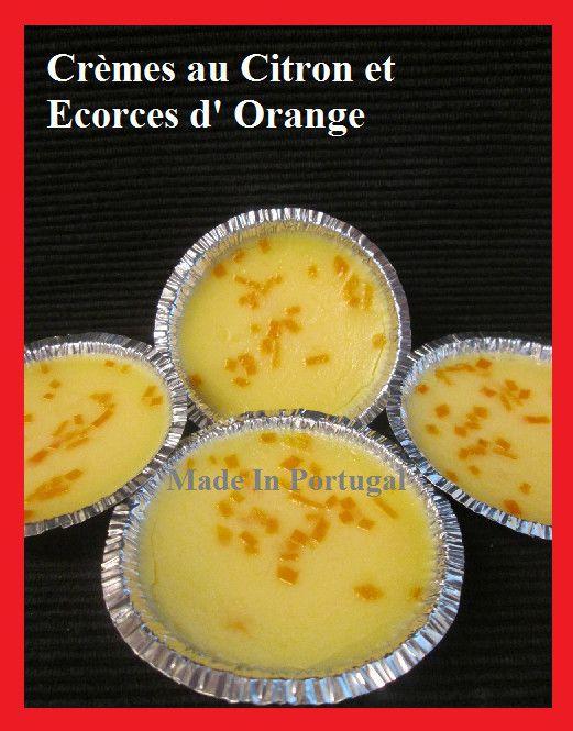 Crèmes au Citron et Zestes d'Orange