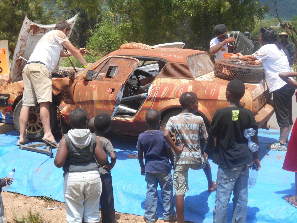Excitement and ululations as classic rally cars cross Taita