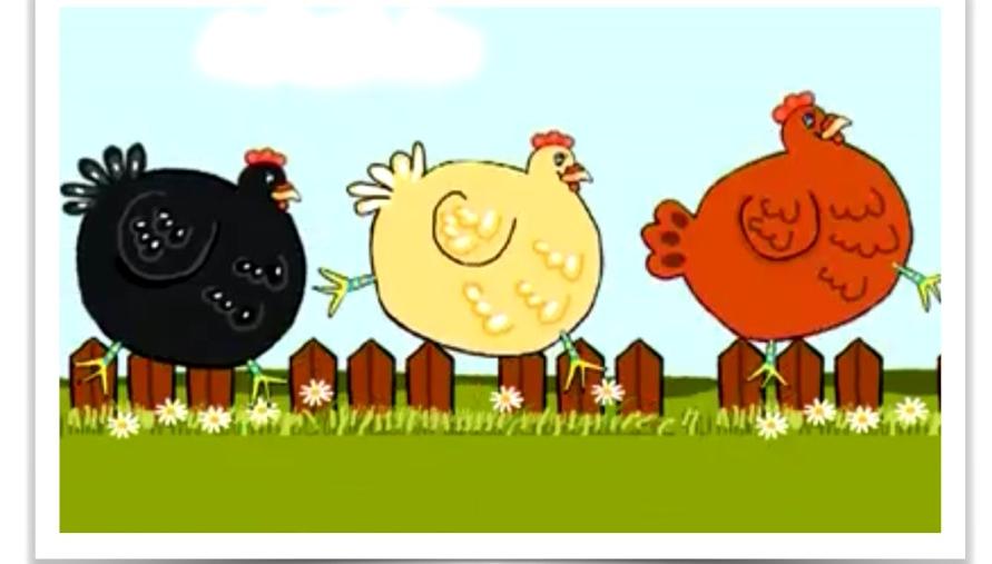 """Extrait du Clipounets """"Quand 3 poules vont aux champs"""" - www.clipounets.com - Tous droits réservés AKCS 2015"""