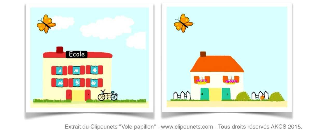 """Extrait du Clipounets """"Vole papillon"""" - www.clipounets.com - Tous droits réservés AKCS 2015"""