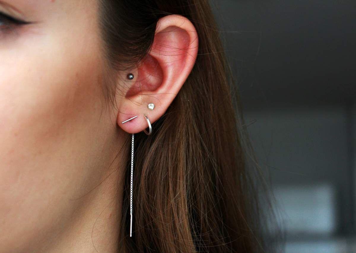 Boucles d'oreilles SUPREME silver - 17€