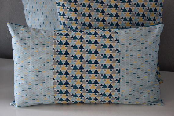 housse de coussin 50 x 30 cm tissu diff rents imprim s. Black Bedroom Furniture Sets. Home Design Ideas