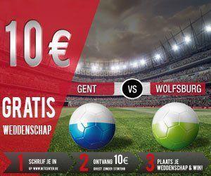 Profitez des 10€ offert à l'occassion du match de foot Gent vs wolfburg