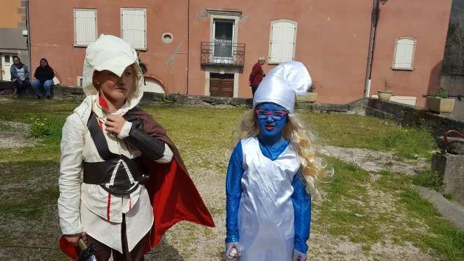 Costume stroumphette carnaval