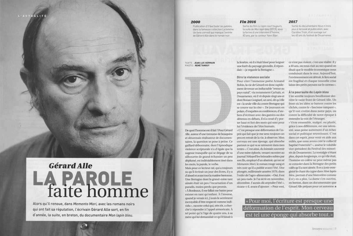 A l'honneur dans le dernier Bretagne Magazine...