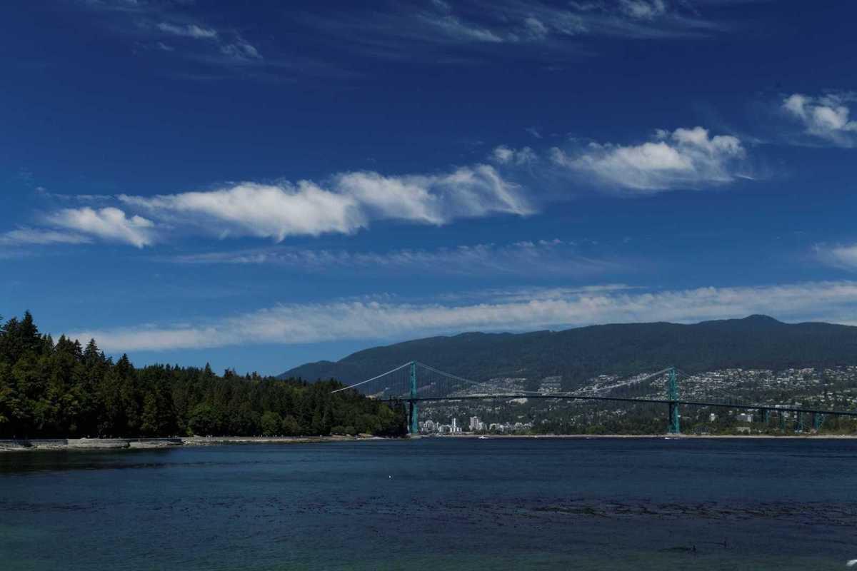 Vancouver et North Vancouver depuis Stanley Park