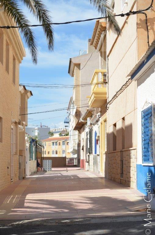 Les vacances en Espagne jusqu'à la dernière prise de vue! Une rue au soleil... Faudra attendre l'année prochaine pour en voir d'autres
