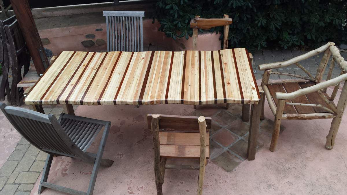 Best table de jardin en bois flotte pictures awesome for Mobilier bois flotte