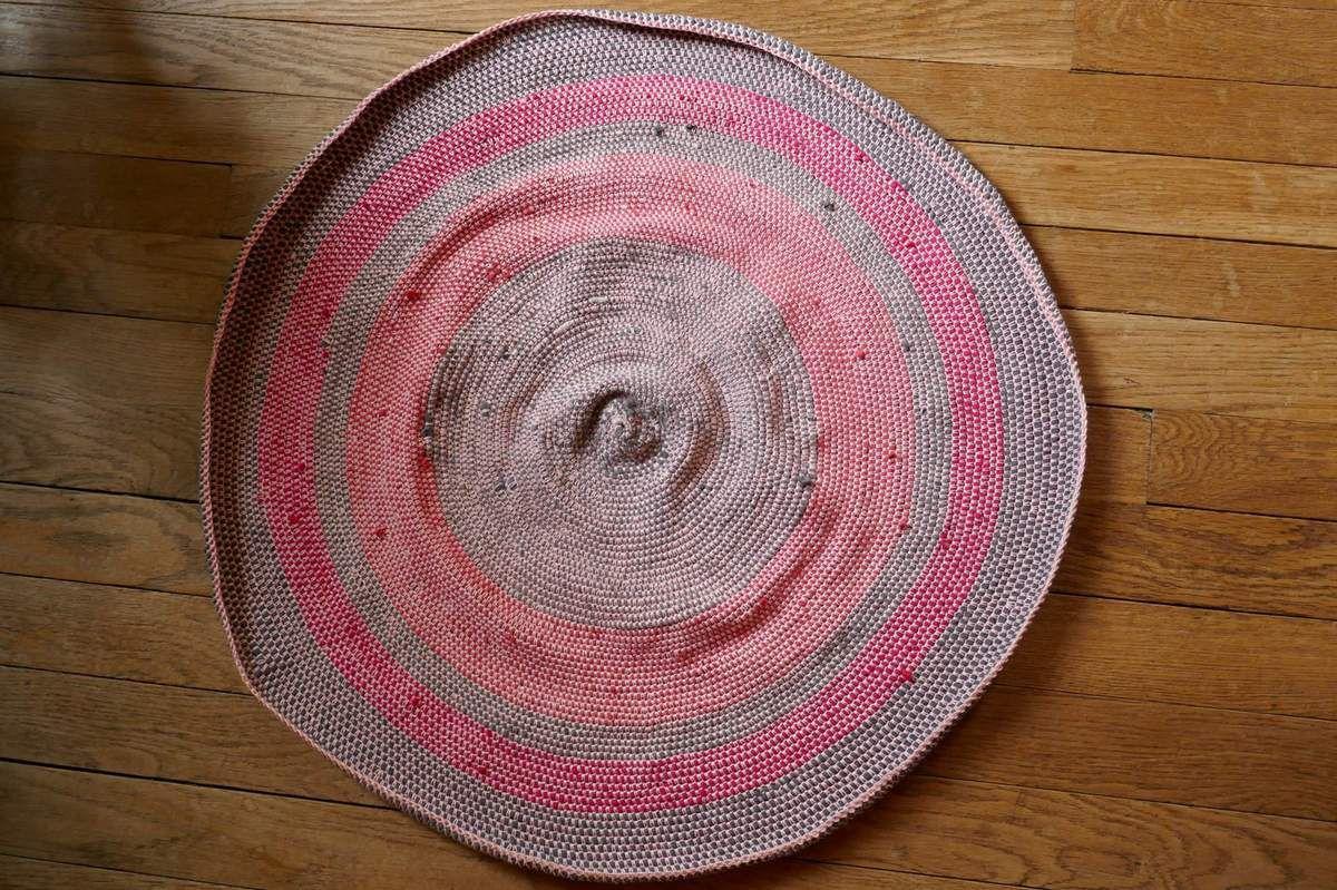 Carpette en tissu de récup'