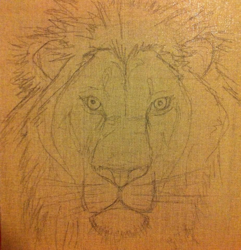 lion peinture pastels gras sur toile en lin les peintures et dessins de mathieu. Black Bedroom Furniture Sets. Home Design Ideas