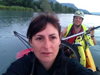 Taxi-boat en kayak