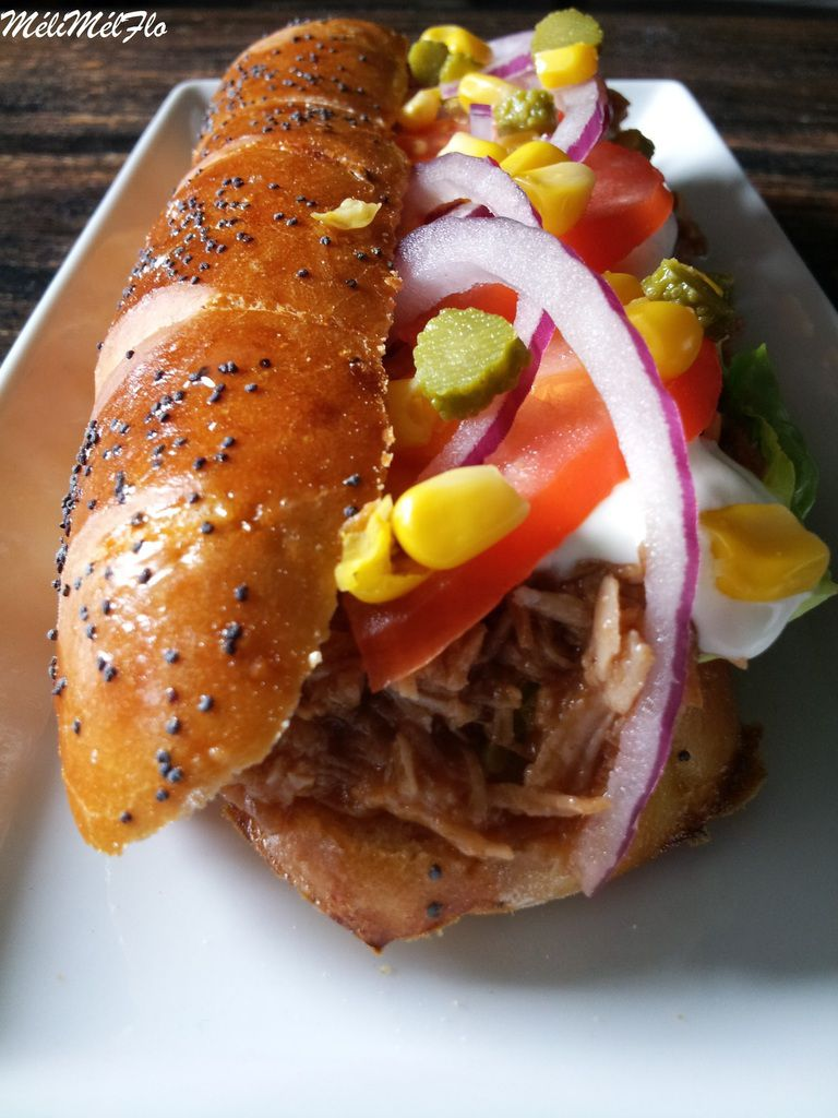 Sandwich à la dinde éffilochée