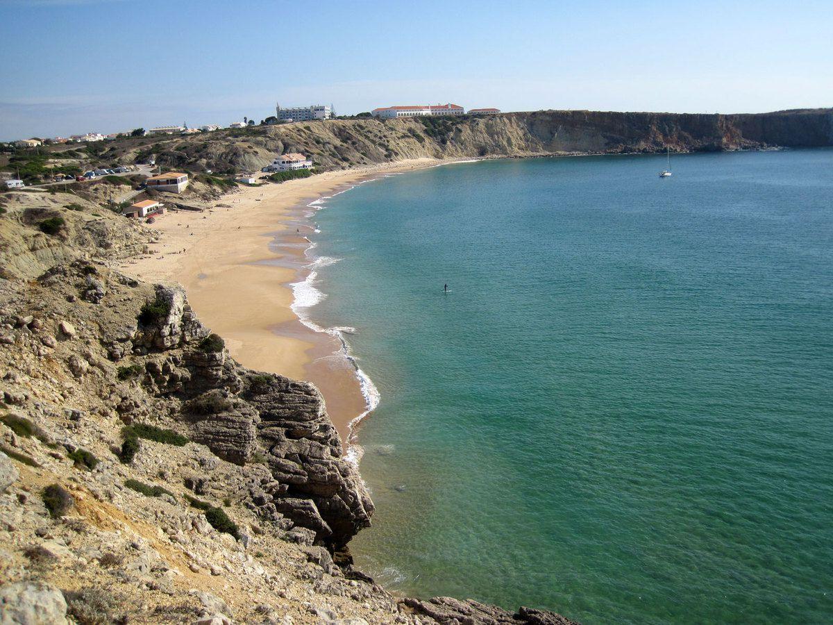 La plage de Sagres spot de planches et kytes