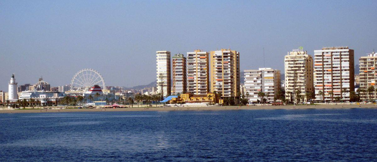 Malaga vue de la mer