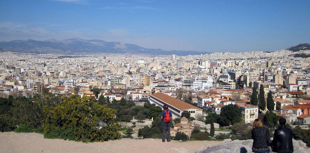 Athènes vue de haut