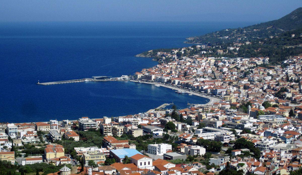 Vathy la ville principale de Samos.