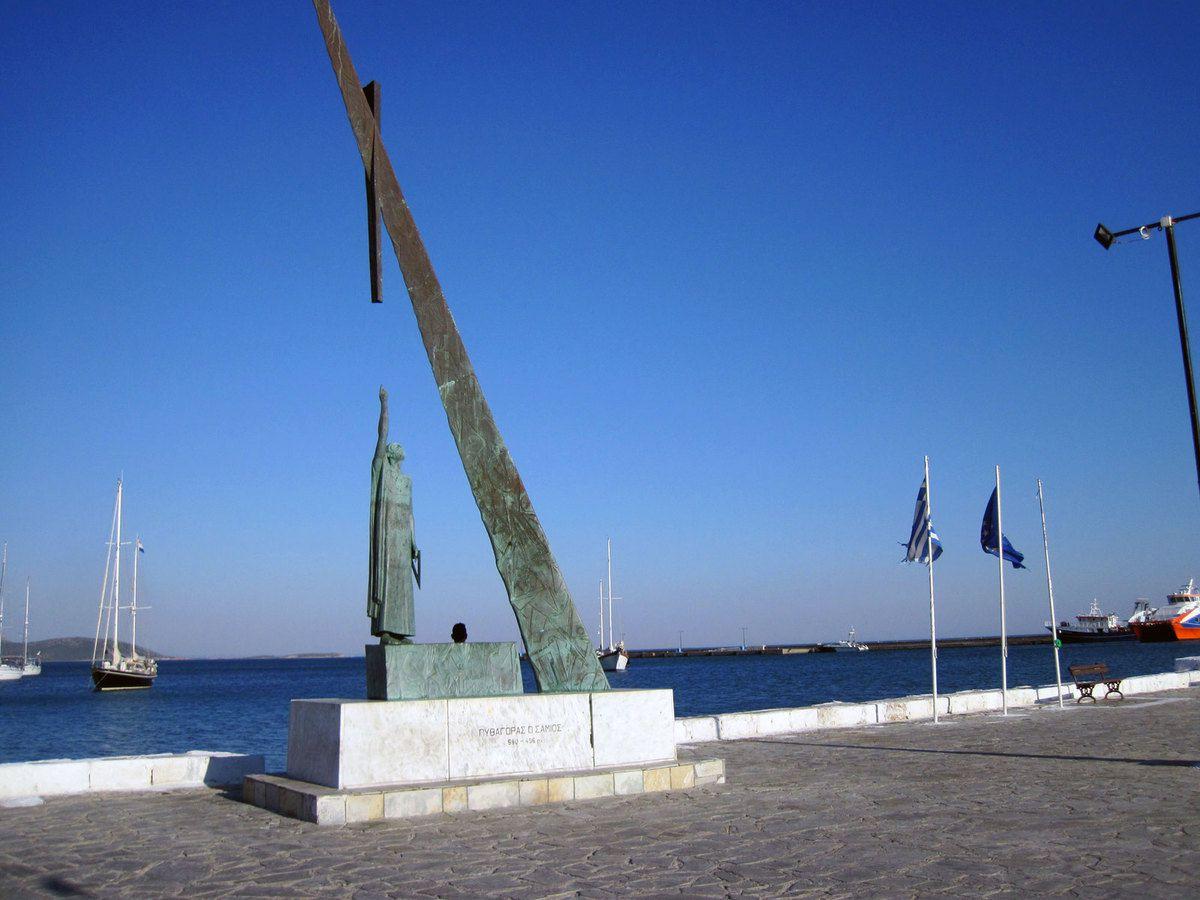 La statue de Pythagore
