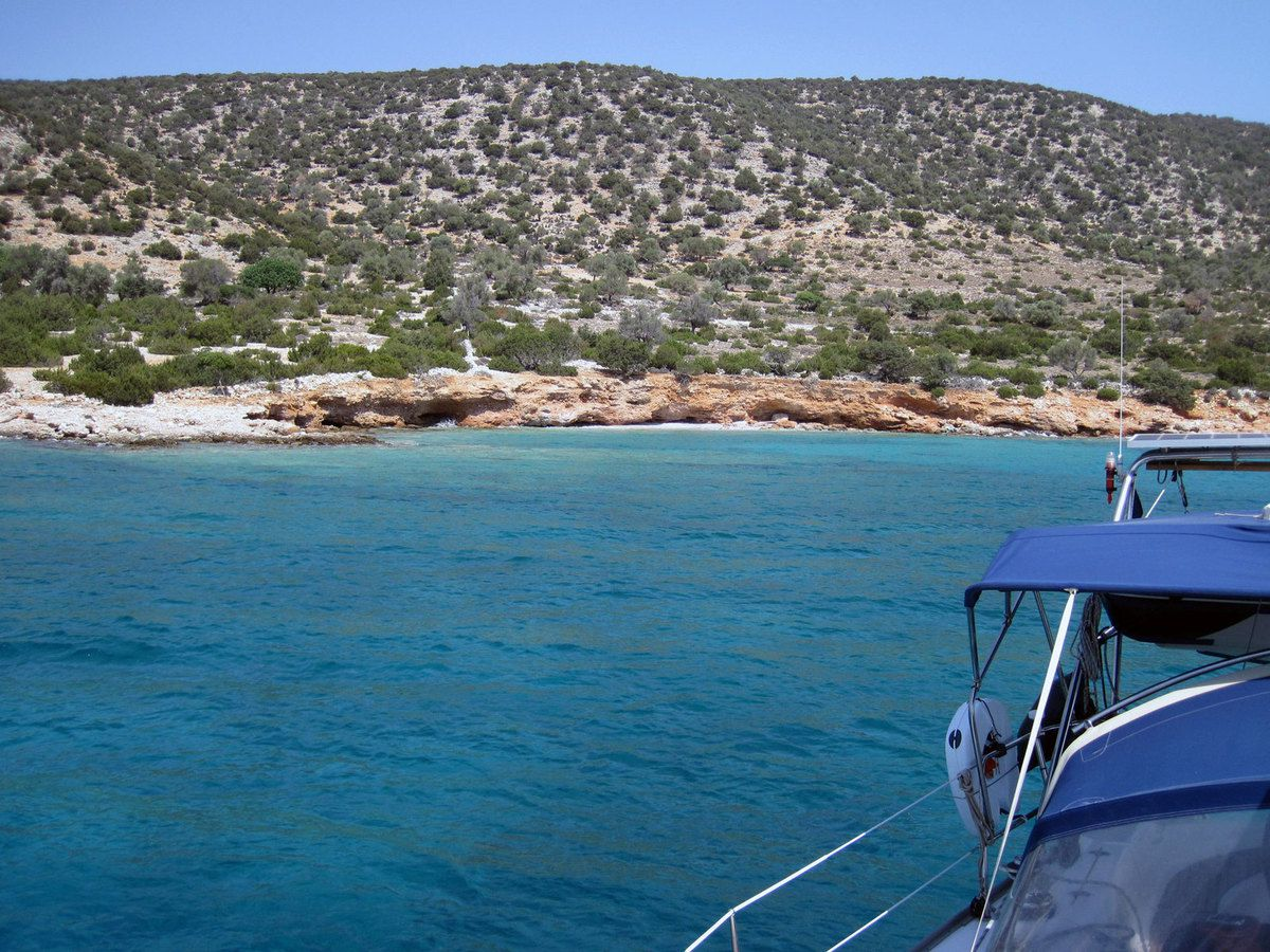 Mouillage repas Naxos