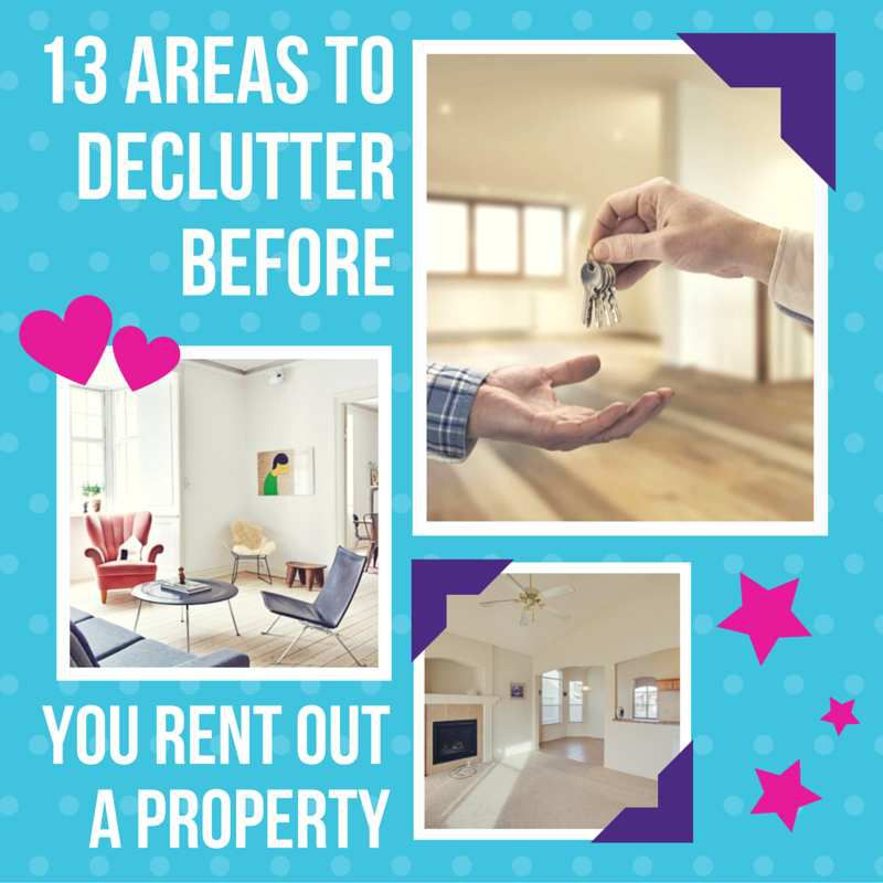 13 areas to declutter before you rent out a property for How to rent out a property