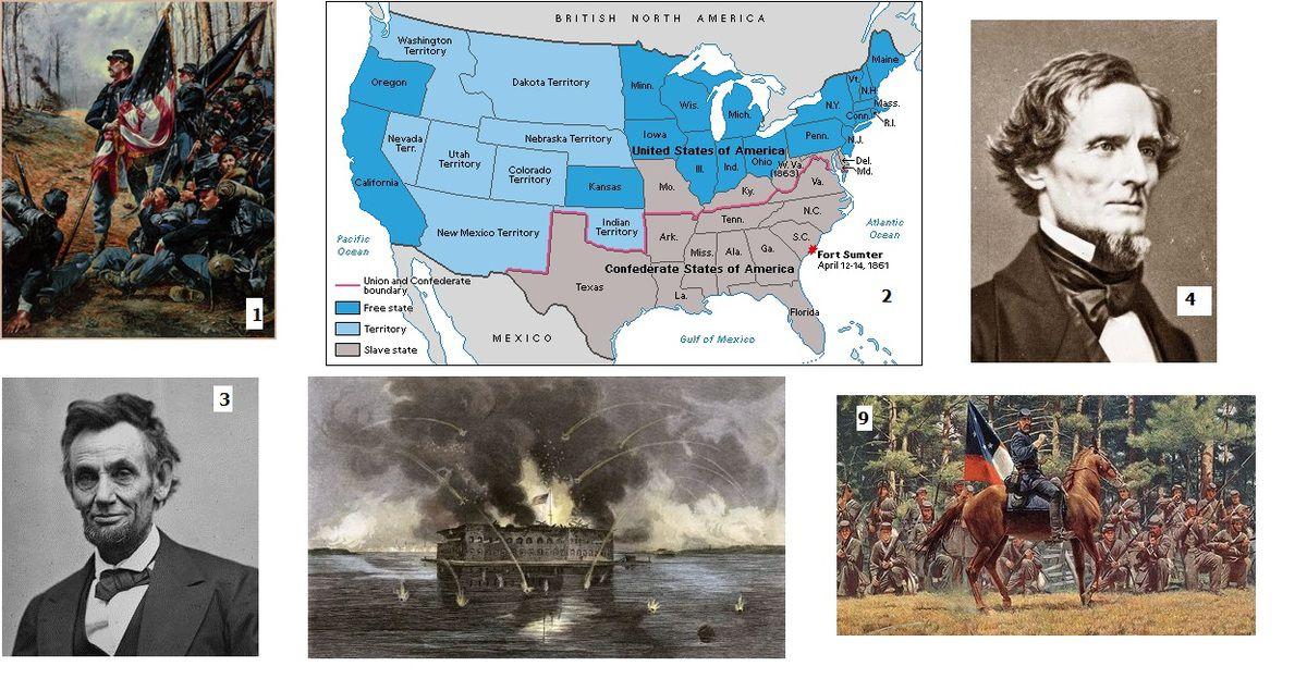 La Guerre civile américaine (1861-1865,  1 ère partie)