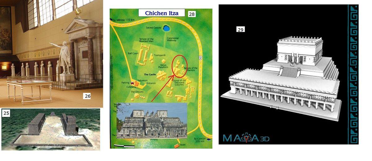 Les Colonnes de Buren et Un calendrier Maya en plein cœur de Paris