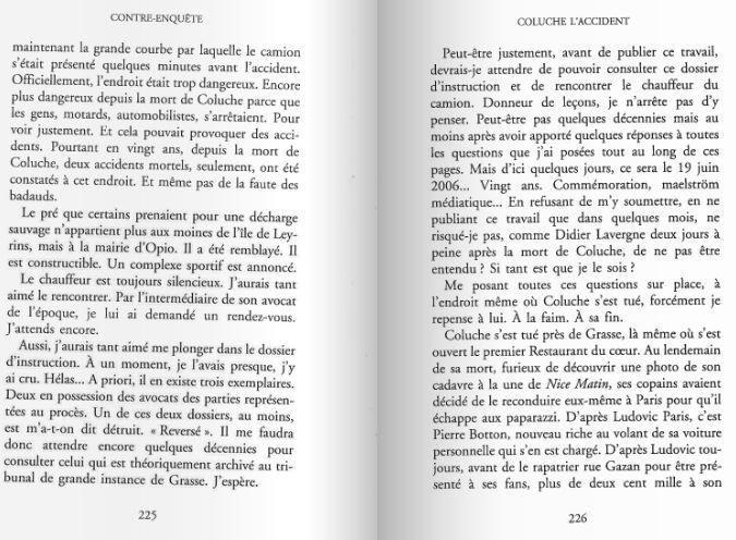La mort de Coluche et le livre interdit 3 partie