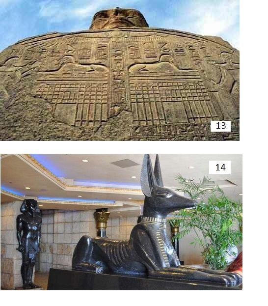 Le message secret gravé sur la patte du sphinx,