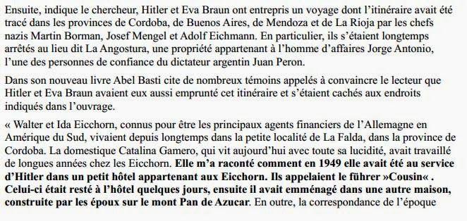 le FBI a dissimule la survie d'Adolf Hitler