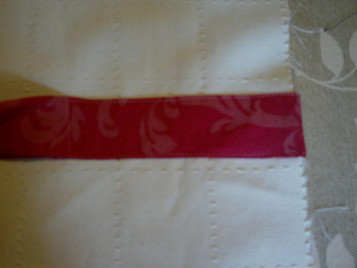 Dossier de chaise en tissu