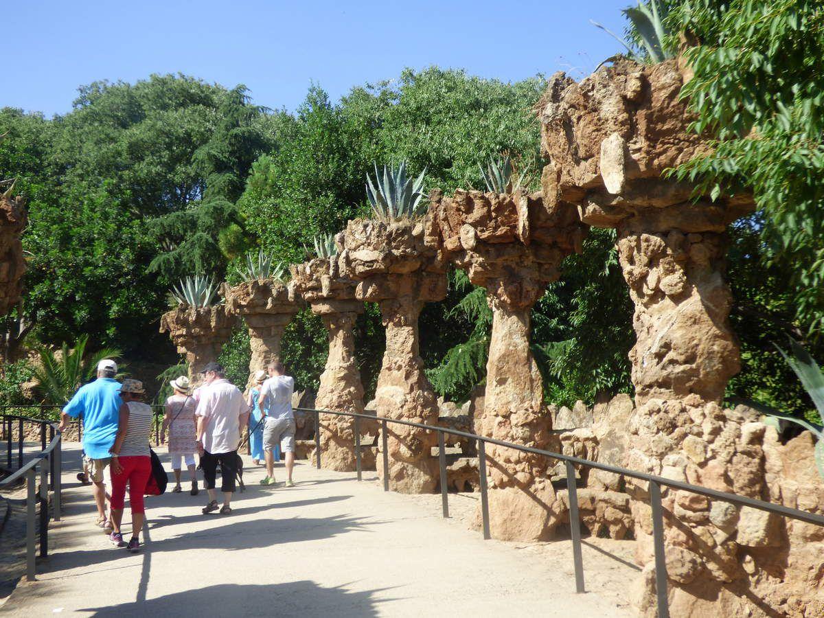 Le Parc Güell de Barcelone.