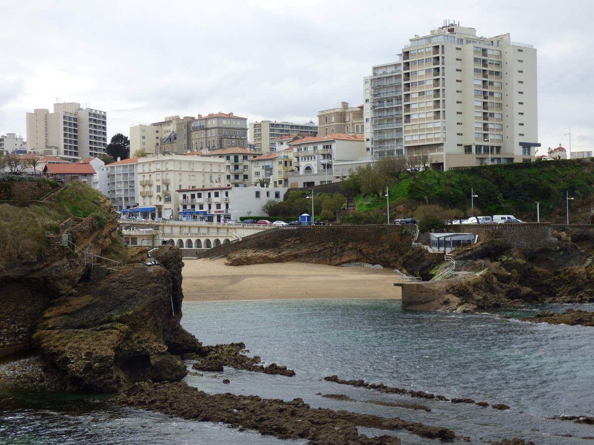 Surf sur la côte basque.