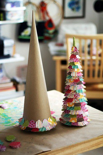 Comment fabriquer un sapin de noel original l 39 id e d co for Fabrication decoration de noel
