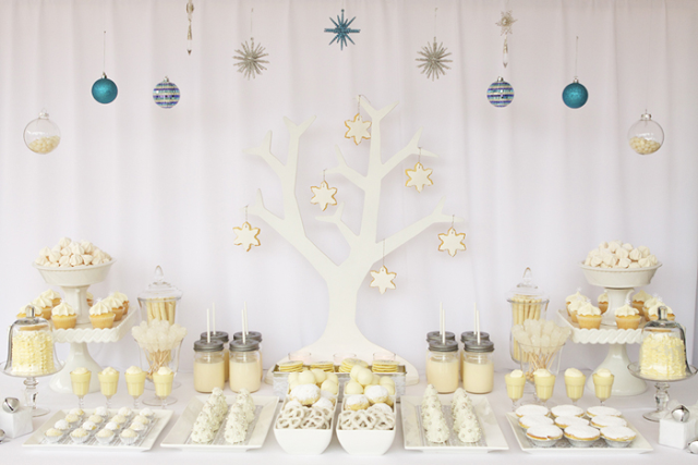 decoration candy bar blanc sweet table