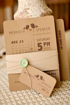 invitation faire part kraft