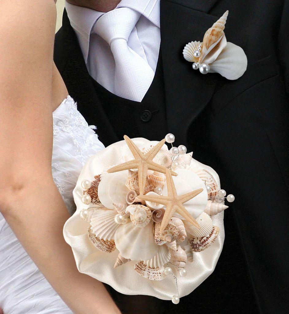 bouquet de mariée en coquillage