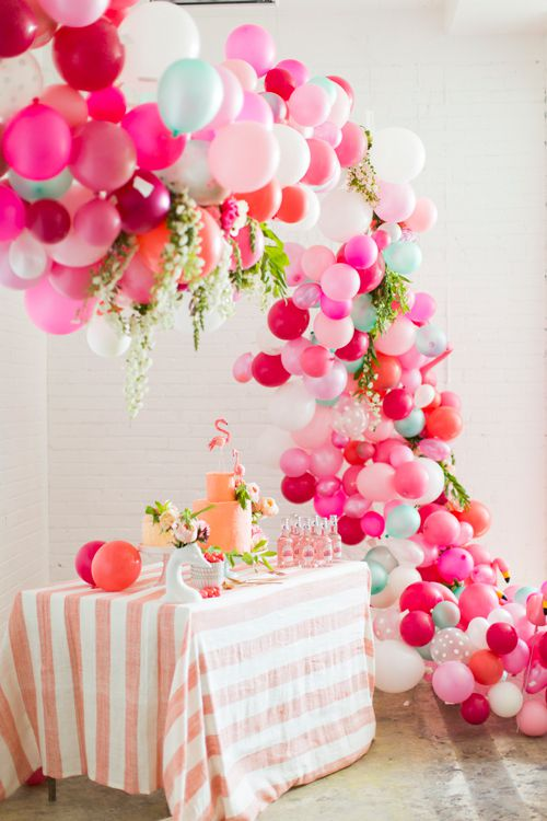 decoration tropical ballons