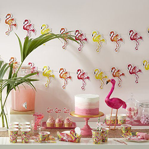 candy bar decoration tropical flamand rose