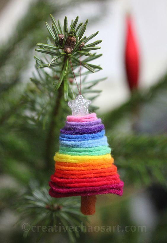 decoration sapin de noel en couleur