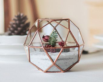 terrarium polygone deco table noel