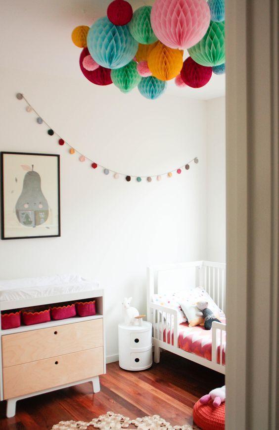 boule papier alveole decoration chambre